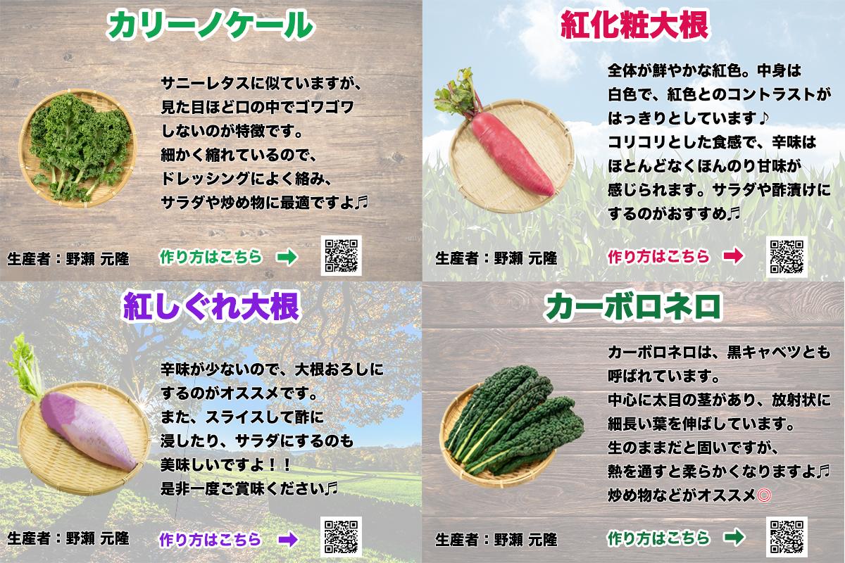 野菜のポップ