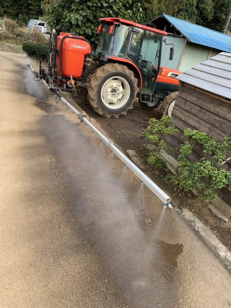 農薬散布の機械